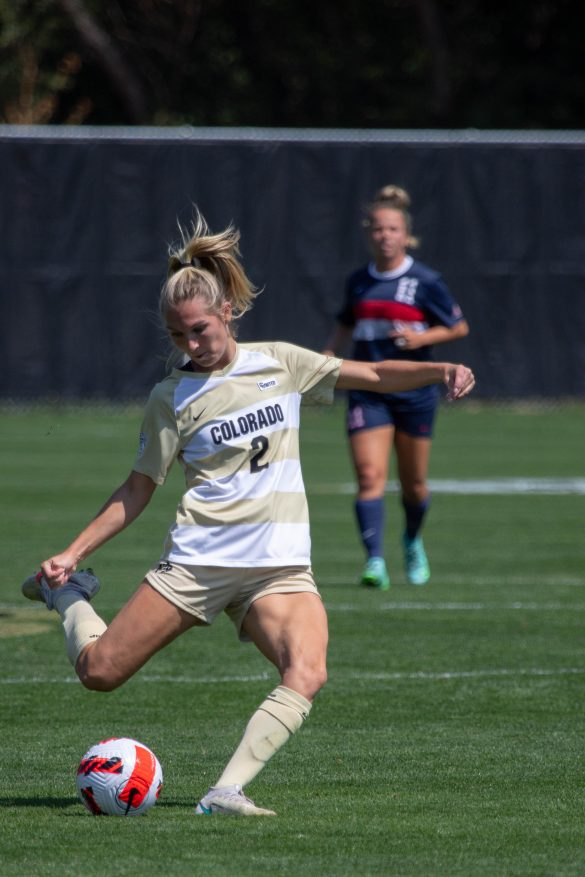 Second half headers lift soccer Buffs to 2-0 win over Stony Brook